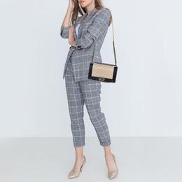 Chanel Beige/Black Quilted Leather Medium Boy Flap Bag 391921