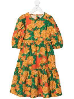 Mini Rodini платье с цветочным принтом 2125010142