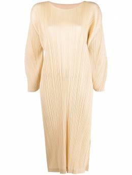 Pleats Please Issey Miyake плиссированное платье миди PP16JH165