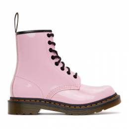 Dr. Martens Pink Patent 1460 Lace-Up Boots 26425322