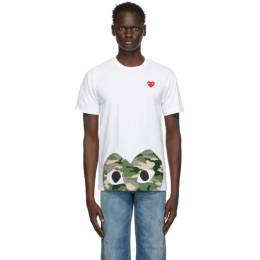 Comme Des Garcons Play White Heart Patch T-Shirt P1T244
