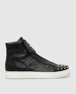 Детские черные кожаные ботинки Philipp Plein 2300004998159