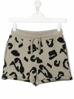 Stella McCartney Kids шорты с леопардовым принтом 602605SQJ98