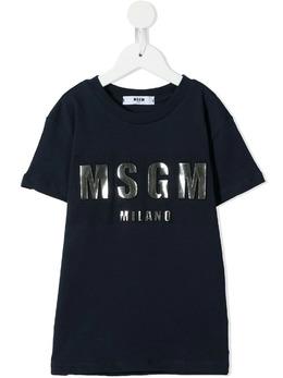 MSGM Kids футболка с логотипом MS027389