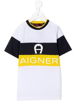 Aigner Kids футболка с логотипом 53206