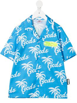 GCDS Kids рубашка с логотипом 027642