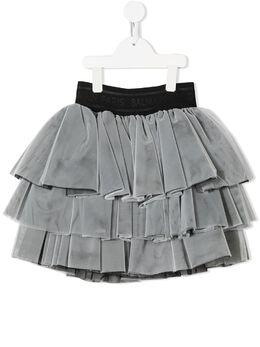 Balmain Kids ярусная юбка из тюля 6O7050OB720