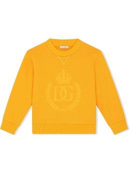 Dolce & Gabbana Kids толстовка с круглым вырезом и логотипом L4JW7YG7YFI