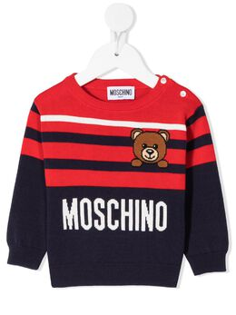 Moschino Kids полосатый джемпер Toy Bear MMW00JLHE13