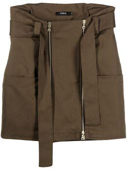 Amen юбка мини с поясом AMS21308