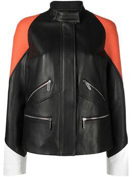 Just Cavalli куртка в стиле колор-блок S02AM0323N09296