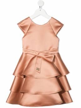 Elisabetta Franchi La Mia Bambina расклешенное платье с оборками EFAB328RA53WE003