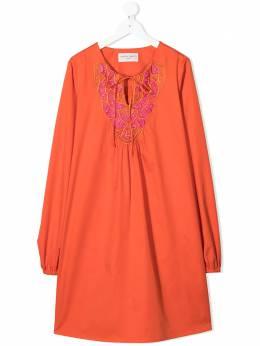 Alberta Ferretti Kids платье туника с вышивкой 0278190300