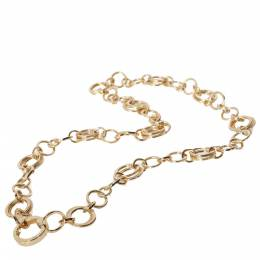 Tiffany & Co. 18K Yellow Gold Circle Link Chain Necklace 390834
