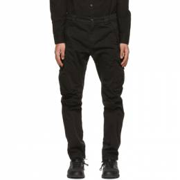 C.P. Company Black Stretch Sateen Garment-Dyed Utility Cargo Pants 10CMPA152A-005694G