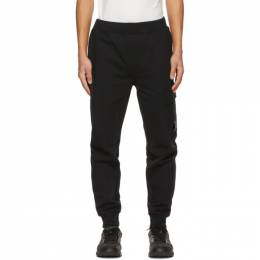 C.P. Company Black Diagonal Raised Lounge Pants 10CMSP042A-005086W