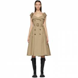 Alexander McQueen Beige Exploded Trench Dress 645518 QFAAA