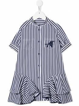 Alberta Ferretti Kids платье-рубашка в полоску 027446