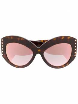 Valentino Eyewear солнцезащитные очки в оправе 'кошачий глаз' с зеркальными линзами VA4055513