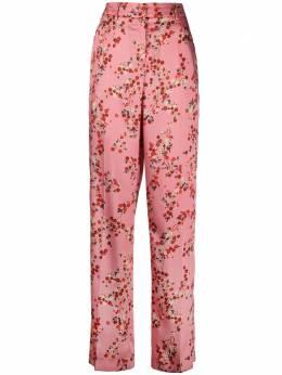 Luisa Cerano прямые брюки с цветочным принтом 6382813233