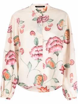 Luisa Cerano блузка с цветочным принтом 2383293228