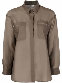 Peserico рубашка с накладными карманами S06432