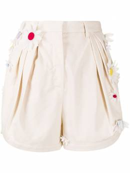 Rosie Assoulin шорты с цветочной аппликацией R211P01SAND271