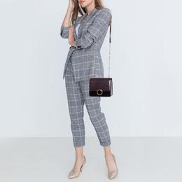 Bvlgari Plum/Black Leather and Perspex Small Flap Cover Shoulder Bag 392546