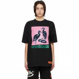 Heron Preston Black Nightshift Heron T-Shirt HMAA020R21JER0031030