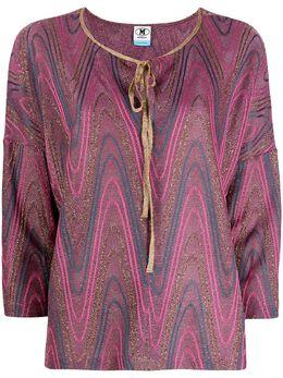 M Missoni блузка с завязками и принтом 2DJ001372J0051