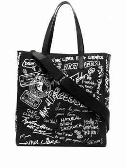 Golden Goose сумка-тоут с принтом граффити GWA00117A00012480203