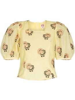 Shrimps блузка с вышивкой HARRYHATOHEARTSYELLOW17SHPOLYESTER