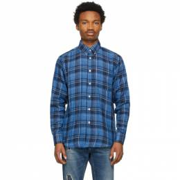 Naked And Famous Denim Blue Check Double-Faced Shirt 120532611