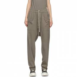 Rick Owens DRKSHDW Taupe Long Drawstring Cargo Pants DS21S2320 RN
