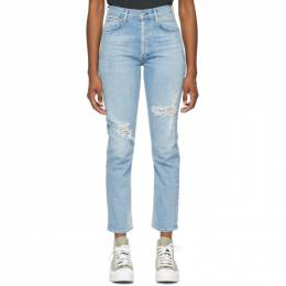 Citizens Of Humanity Blue High-Rise Charlotte Jeans 1731-1281