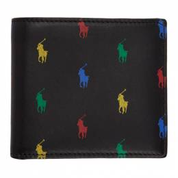 Polo Ralph Lauren Black Allover Pony Bifold Wallet 405825799003