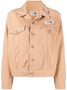 Mm6 Maison Margiela джинсовая куртка с нашивкой-логотипом S62AN0048S30653