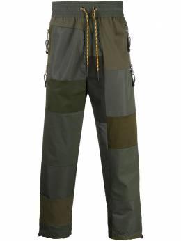 Diesel спортивные брюки в технике пэчворк с кулиской A016430ECAM