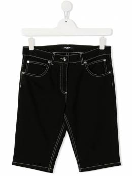 Balmain Kids джинсы с нашивкой-логотипом 6O6779TOC120