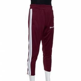 Palm Angels Burgundy Knit Zip Detail Track Pants L 391489