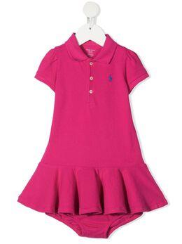 Ralph Lauren Kids платье с логотипом 310800654008