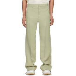 Wooyoungmi Green Twill Trousers PT01
