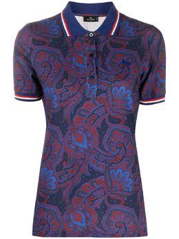 Etro рубашка поло с узором пейсли 145129483