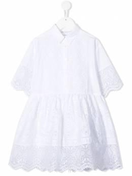 Ermanno Scervino Junior платье с геометричным узором ESFAB017