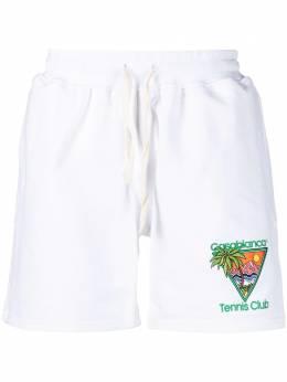 Casablanca шорты с вышивкой Tennis Club MS21JTR003
