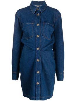 Nanushka джинсовое платье-рубашка на пуговицах NW21RSDR00557