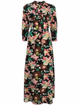 Aspesi платье макси с цветочным принтом 2916F285