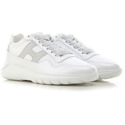 Hogan Sneaker Donna, Bianco, pelle, 2021, 35 35.5 36 36.5 37 37.5 ...
