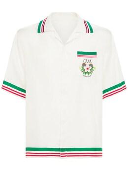 Атласная Рубашка С Принтом Casablanca 73I66H003-MDE00