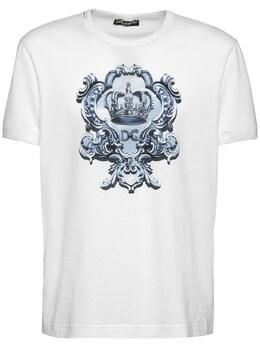 Хлопковая Майка С Принтом Dolce&Gabbana 73I0B2015-SFcySVE1